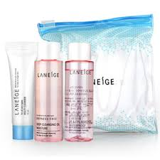 laneige korea new cleansing trial kit makeup remover cleansing oil cleanser 3 pieces