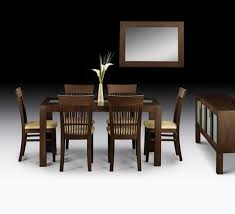 dining room side table. wenge finish hardwood dining table and with 4 or 6 chairs, matching sideboard coffee room side