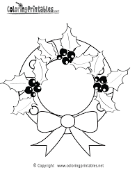 Christmas Wreath Coloring Page A Free Holiday Coloring Printable