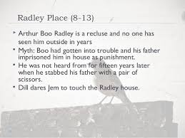 boo radley essay how do tom robinson and boo radley conform to the mockingbird type