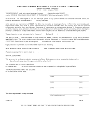 House Contract Form Simple Land Purchase Agreement Form Business Mentor