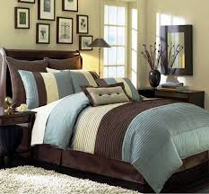 queen duvet cover blue and brown