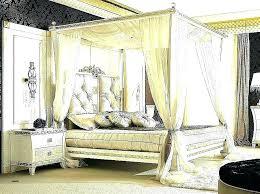 Dark Wood Canopy Bed Frame Full Size Princess Wooden – celebrityvideoz