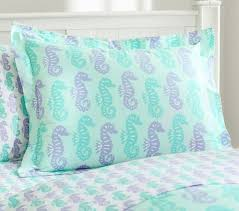 view in gallery seahorse bedding in pastel hues