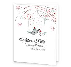 Wedding Ceremony Program Cover Winter Romance Wedding Mass Booklet Cover Loving Invitations