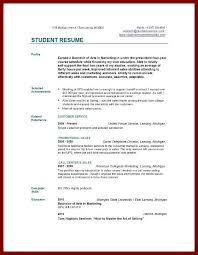 Resume Examples For College Graduates With Little Experience Sample
