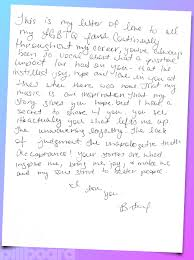 Britney Spears: Gay Pride Month Handwritten Love Letter (Exclusive ...