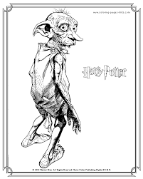 Dobby Harry Potter Color Page Embroidery Harry Potter Coloring