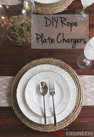 diy rope plate charger free plans