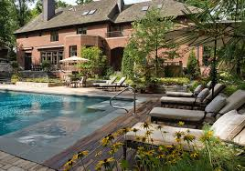 Outdoor Backyard Inground Pool Designs Back Yard Fiberglass Pools