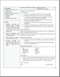 Related Post Chartered Accountant Cv Template Newly Qualified Resume