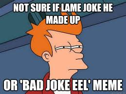 Not sure if lame joke he made up Or 'bad joke eel' meme - Futurama ... via Relatably.com
