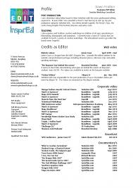 Video Production Resume Samples
