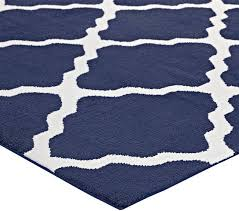 moroccan trellis area rug ivory and navy contemporary area rugs by ladder
