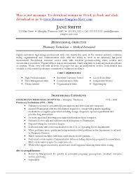 Pharmacy Technician Resume Sample Experienced Resume Pharmacy