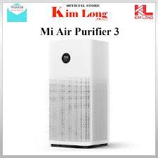 Máy lọc không khí Xiaomi Air Purifier Gen 3 | 3H lọc siêu bụi mịn 0.3μm gồm  hạt PM 25 khử mùi diệt khuẩn công suất 400m3/h - Bảo hành 12 tháng