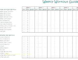 Weekly Workout Log Template Andrewdaish Me