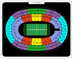 Cotton Bowl Seating Chart With Seat Numbers Conclusive Cotton Bowl Stadium Seating Chart Rows Cotton