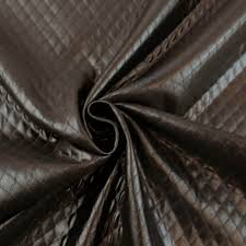 dark brown diamond quilted padded faux leather fabric 9000 dark brown stylishfabric com