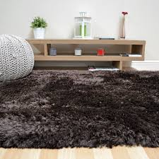 plush gy rugs in dark chocolate brown