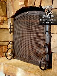 great northern lodge free standing fireplace screen dragon forge intended for rustic screens remodel 3 rustic fireplace screens h93 rustic