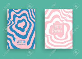 2 Color Poster Design Set Of Trendy Flat Geometric Vector Banners Two Color Banners
