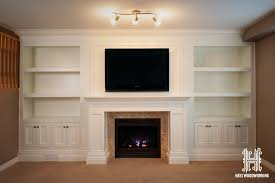 built in entertainment unit fireplace mantle