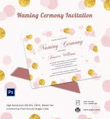 invitation card psd ai vector eps format naming ceremony invitation template
