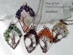 tutorial wire wrapped tree of life pendant diy pdf pattern by perfectly twisted jewelry