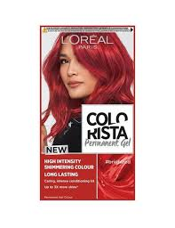 Colorista Bright Red Permanent Hair Dye Gel Bright Red