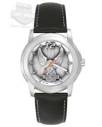 barnett harley davidson watches harley davidson® men black eagle watch by bulova® 76a12