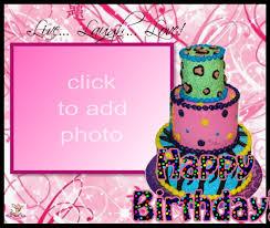 Birthday Cake Frame Happy Birthday Cake Photo Frame Editor
