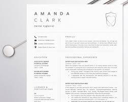 Dental Assistant Resume For Word Dentist Cv Template Dental Etsy