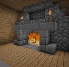 mincraft building ideas interior fireplace with mantle