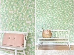 Light Pink Wallpaper For Bedrooms Apple Garden Soft Green Light Pink Cream White Frayenn Majvillan