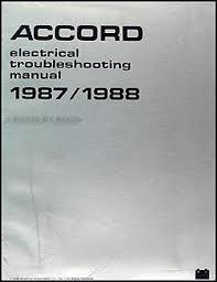 1988 honda accord 4 door sedan owner s manual original 1987 1988 honda accord electrical troubleshooting manual original
