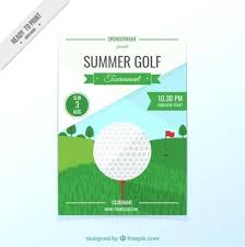 Clean Golf Tournament Brochure Microsoft Word Flyer Template ...