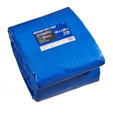 Everbilt 40 ft. x 60 ft. Blue Medium Duty Tarp-BP4060 - The Home Depot