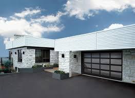 O Garaga  California Garage Door Black Aluminum Frame Tinted Glass