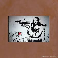 modern classical banksy wall art picture home decoration painting custom canvas prints picture from digital photo for home street art graffiti style banksy