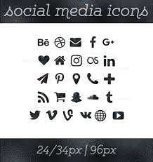 Resume Icons Social Media Icons Black Foil Icons Black Button Social 56