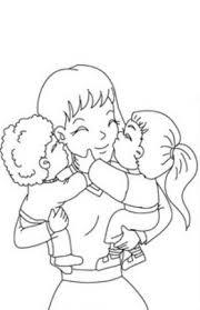 Disegni Per La Festa Della Mamma La Mamma Con I Bambini In Braccio