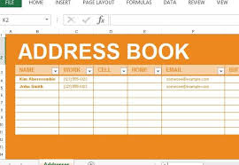 contact spreadsheet template address book maker template for excel