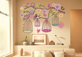 Small Picture Birdcage Tree Wall Sticker Birdcage Flower Tree Kids Living Room