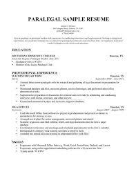 ... Sample Entry Level Paralegal Resume inside Sample Entry Level Paralegal  Resume ...