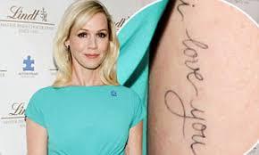 Jennie Garth Gets New I Love You Tattoo Inked On Her Inner Arm