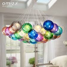 get ations proud mi nordic creative minimalist living room dining led chandelier children s room color bubble glass ball