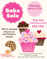 How To Have A Bake Sale Bake Sale Fundraiser For Childrens Miracle Network At Rite Aid