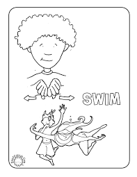 Asl Coloring Page For The Sign