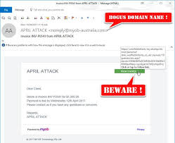 Fake Works Myob t Design I Invoice zap Phishing Website Emails